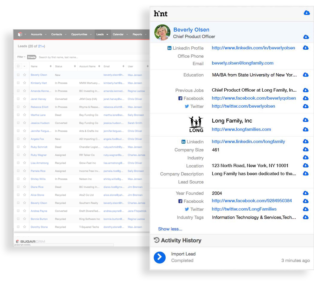 SugarCRM Announces Hint – Relationship Intelligence